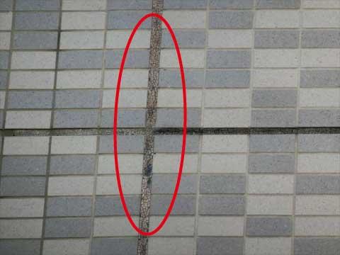 タイル外壁目地