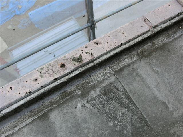 屋上防水の汚れ
