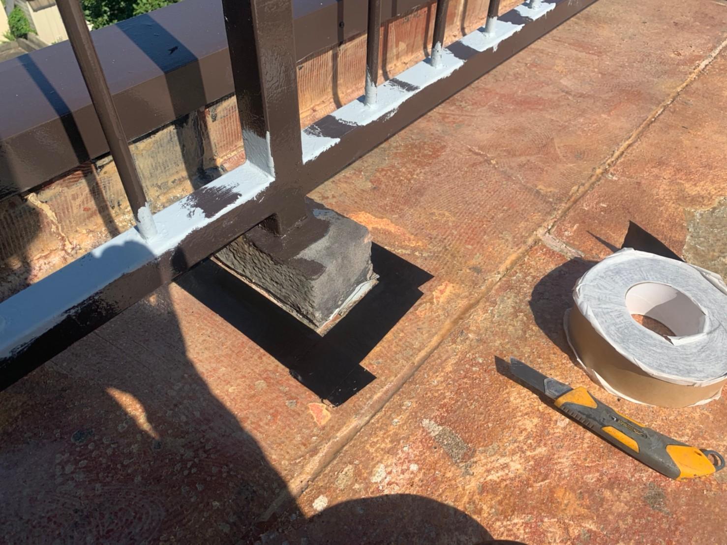 屋上防水の架台廻り
