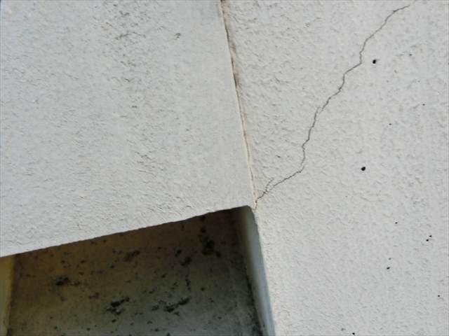 打放コンクリートのひび割れ