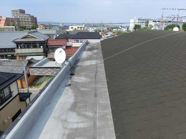 屋上のゴムシート防水