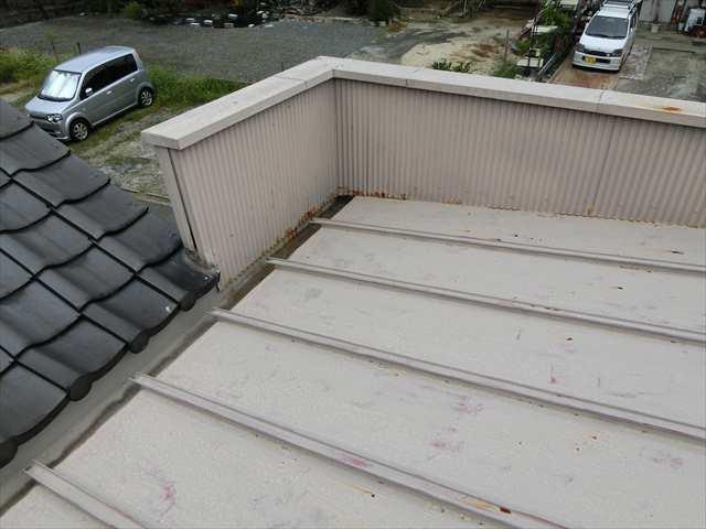 瓦棒屋根の錆
