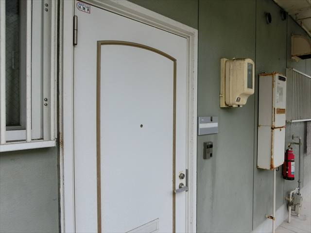 玄関ドアの錆