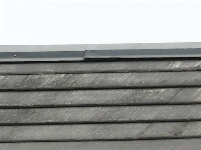 屋根の棟板金の浮き