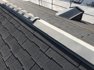 名古屋市中川区にて屋根板金の塗装工事を行いました