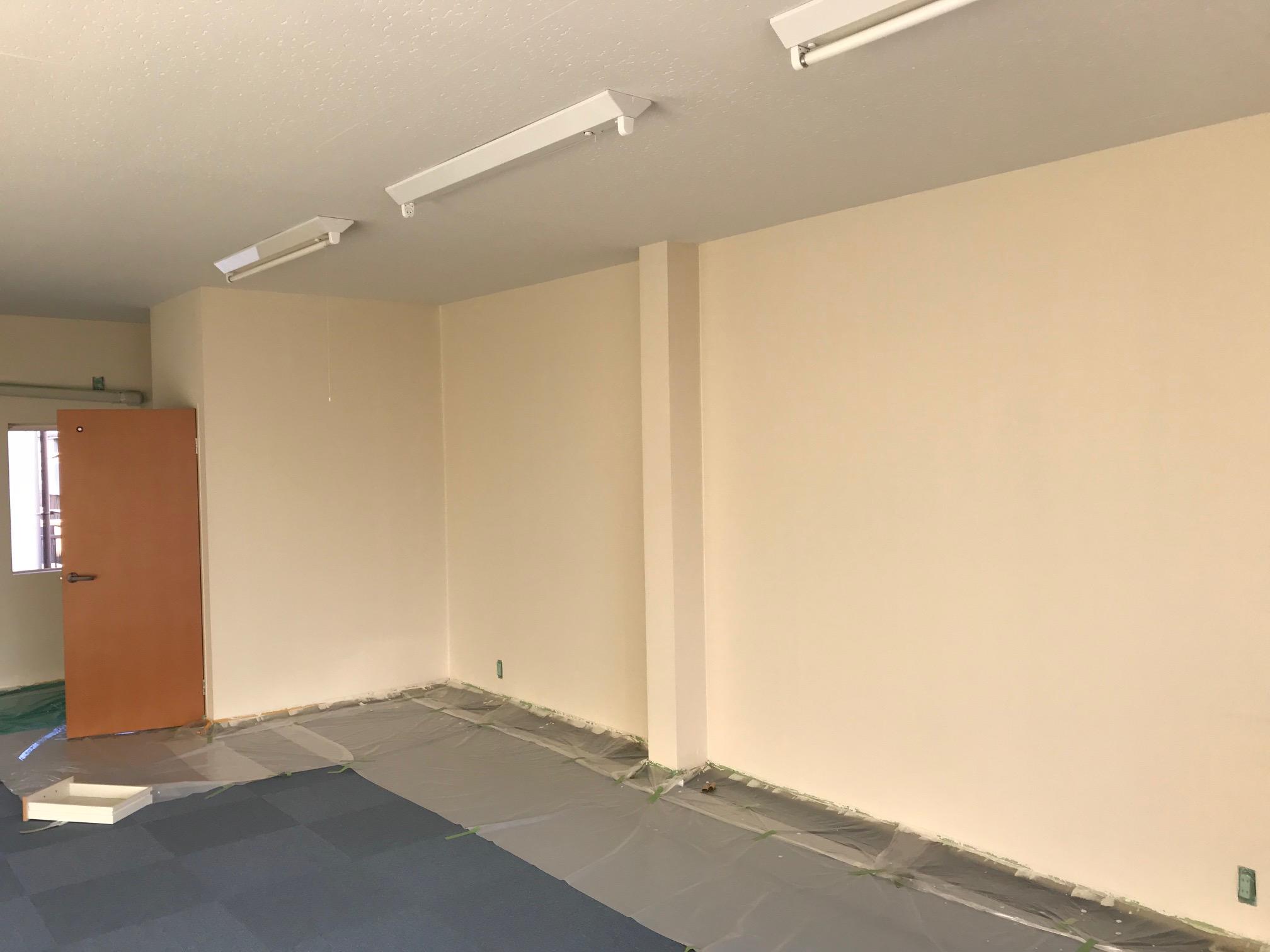 室内クロスの塗装施工後
