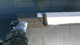 棟板金の塗装