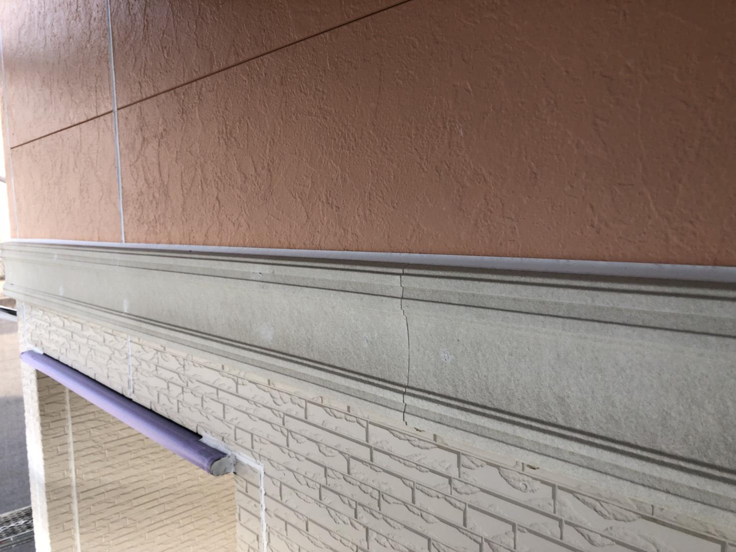 外壁の胴差モール