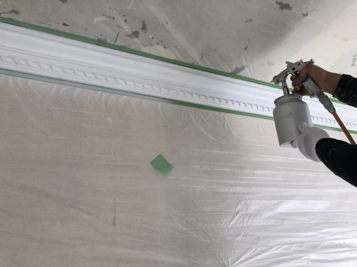 室内の塗装工事