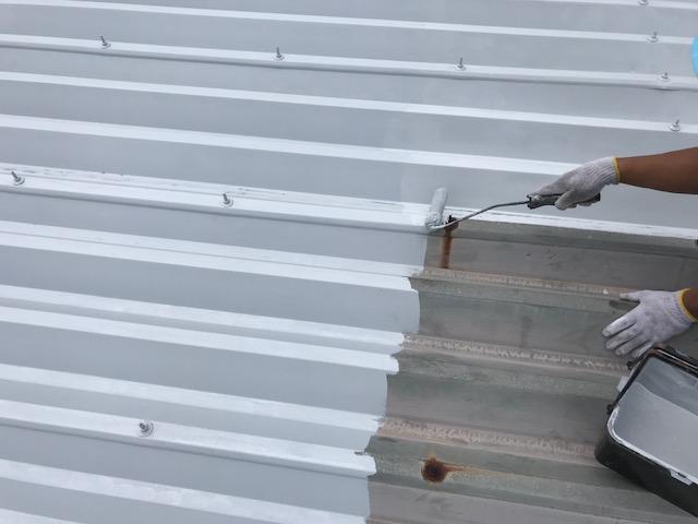 折半屋根の錆止め