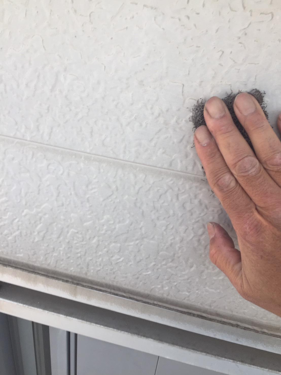 アルミ外壁の目粗し