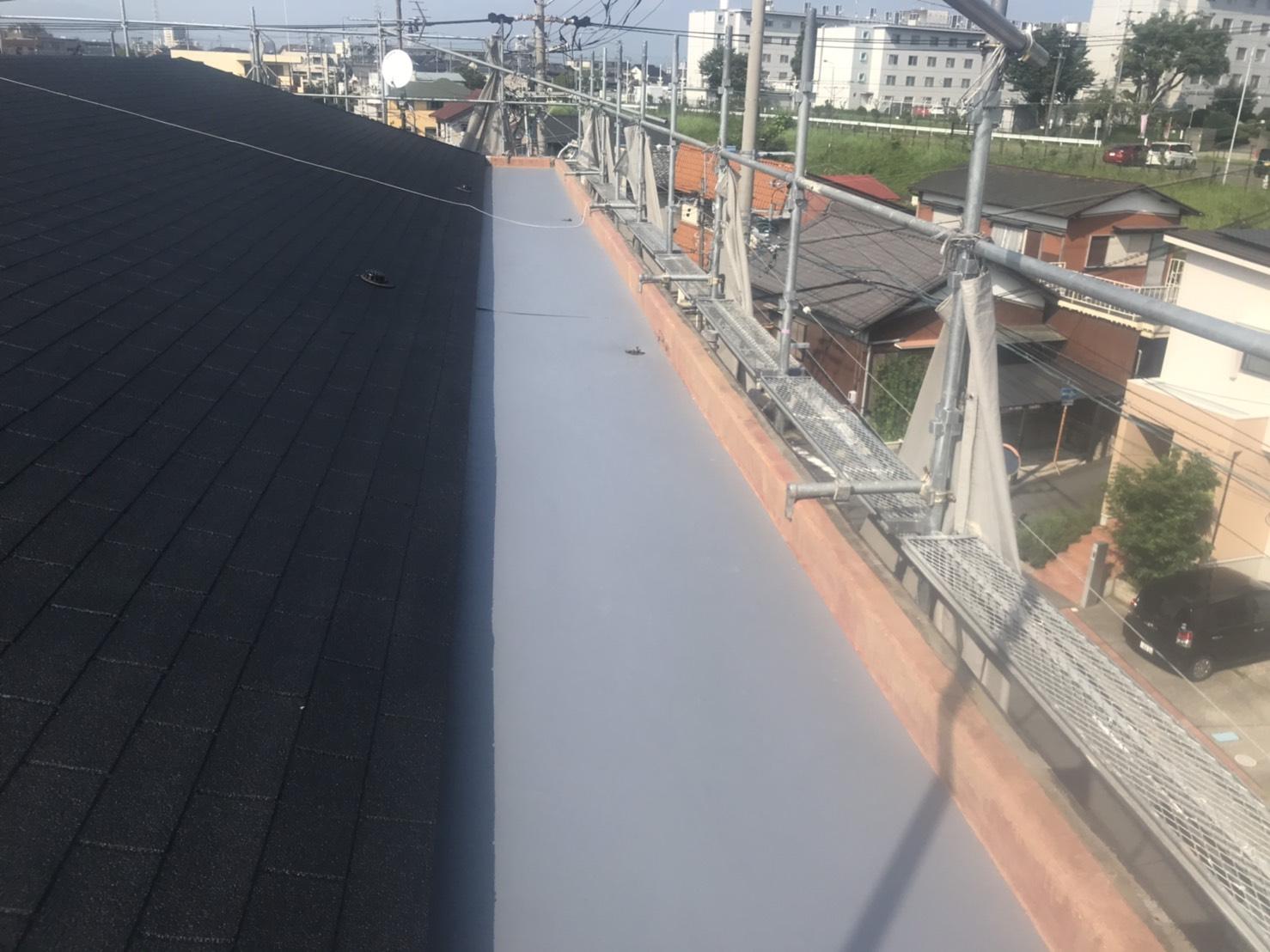 屋上防水の施工