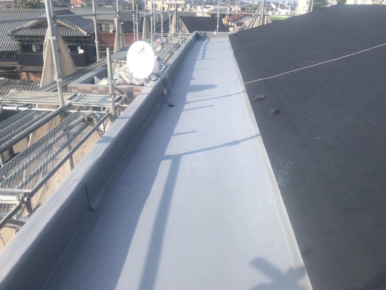 屋上塩ビシートの施工