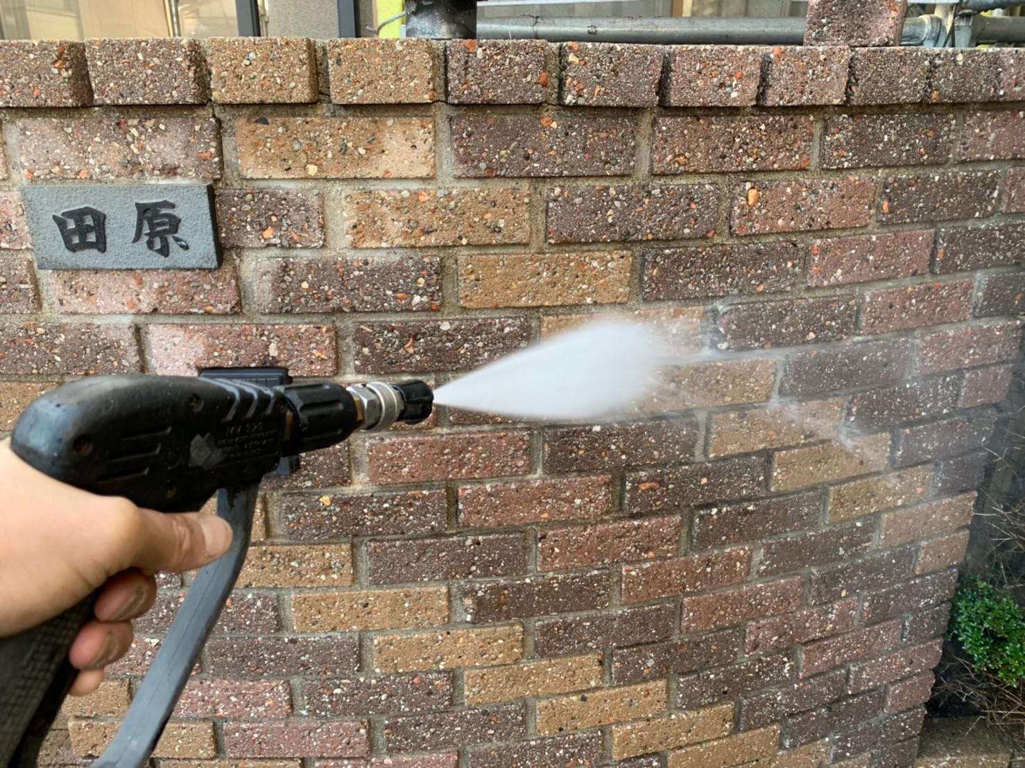 外塀の洗浄
